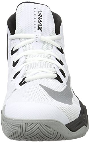 Nike Air Max Audacity 2016, Chaussures de Sport-Basketball Homme Blanco (White / Reflect Silver-Black-Wolf Grey)