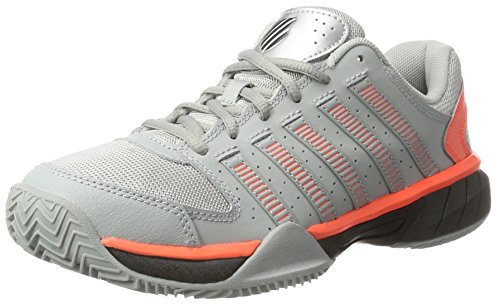 K-Swiss Performance Herren Express LTR Tennisschuhe, Grau (Highrise/Black/Neon Blaze), 42 EU (Grau-tennis-schuhe Orange Und)