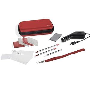 Speedlink Starter Kit 10-In-1 für Nintendo N3DS/NDSi (Tasche, Touch Pens, KFZ-Ladegerät, Schutzfolie, Spielhüllen, Mikrofasertuch uvm.) rot