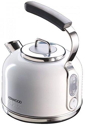Kenwood SKM 030 Kmix Wasserkocher Retrodesign Metallgehäuse Sure Grip Griff (2200 Watt) weiß