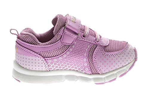 Kinder Sneaker Mädchen Halb Schuhe Aufdruck Klettverschluss Blau Lila Turnschuhe Gr. 25 - 31 Lila