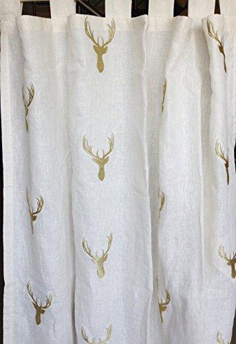 Amore Beaute Realizzato a mano Off Bianco tenda di lino