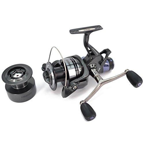 hirisi Tackle® carpa carrete de pesca spinning libre Runner con libre Extra Spool...