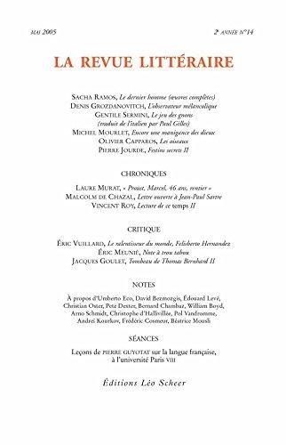 La Revue Littéraire n° 14 (LEO SCHEER REVU) par Collectif