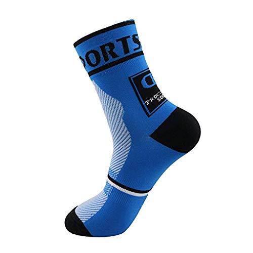 HEATLE Socken für Jungen, Mode Anti Sweat Und Anti Skid Outdoor Kompression Socken Für Männer Und Frauen Socken Jungen 35-38(Blau,1PC) -