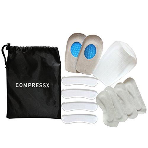 set-da-12-pezzi-cuscinetti-tallone-con-rinforzi-protezioni-calcaneari-inserti-e-coppe-gel-da-compres