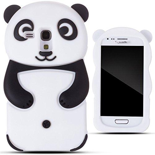 Semoss Lovely Panda Silicona Funda Carcasa Case Cover Para Samsung Galaxy Trend Plus S7580 / Galaxy S Duos 2 S7582 Negro