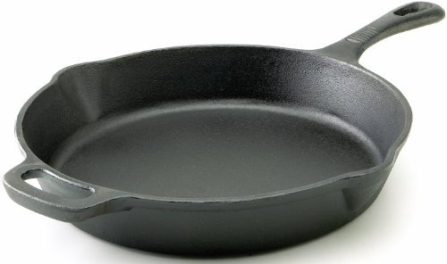 T-fal E83407 Pre-Seasoned Nonstick Durable Cast Iron Skillet / Fry pan Cookware, 12-Inch, Black by T-fal - T-fal 12