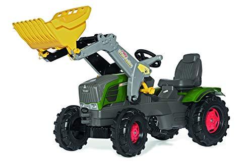 Fendt Trettraktor Rolly Toys Fendt Vario 211 Trettraktor mit Lader (rollyFarmtrac  Traktor; Flüsterlaufreifen; Frontlader, Schaufellader; Kinder ab 3 Jahre) 611058