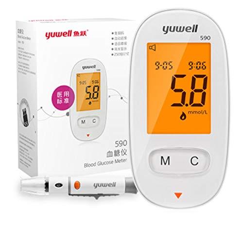 Testeur de diabète Bloedsuikermeter Testeur de glycémie (blanc)