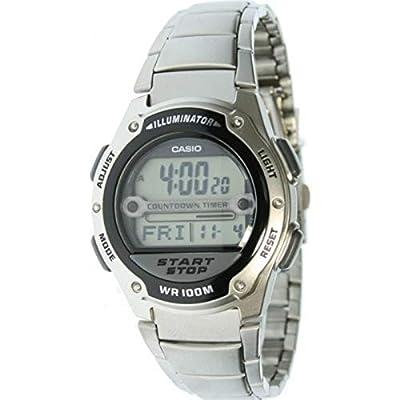 CASIO 19514 W-756D-1A - Reloj Caballero cuarzo brazalete metálico