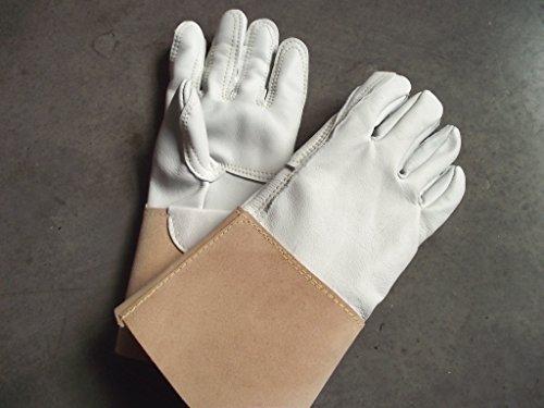 Garden Girl Rosenhandschuhe Gartenhandschuhe Handschuhe Leder Stulpe Damen 6 7 8