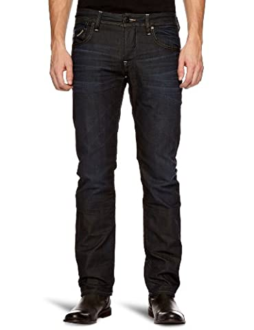 G-STAR Herren Straight Leg Jeanshose Attacc Low, Gr. 32/34, Blau (worn in 009)