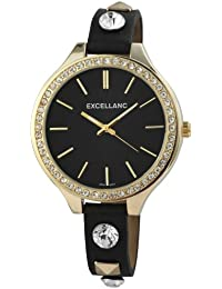 Excellanc Damen-Armbanduhr Analog Quarz Kunstleder 199101000001