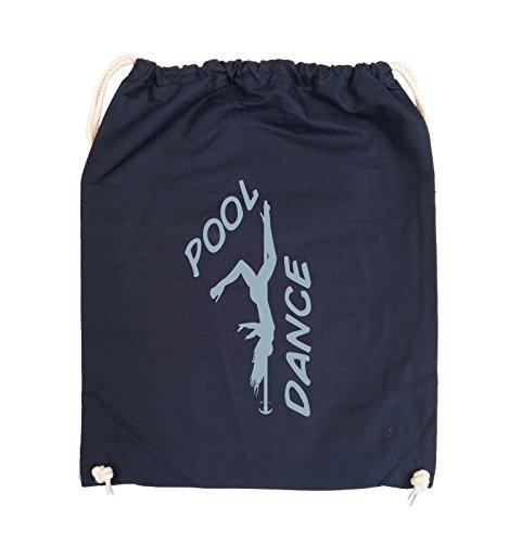 Comedy Bags - POOL DANCE - FIGUR - Turnbeutel - 37x46cm - Farbe: Schwarz / Silber Navy / Eisblau