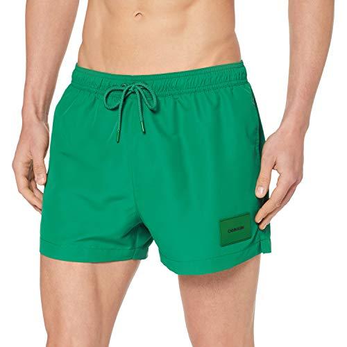 Tommy Hilfiger Drawstring Bañador de natación, Verde Amazon 306, S para Hombre