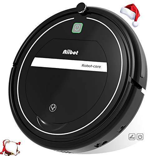 Aiibot Robot Aspirador Limpieza Inteligente, Succión Poderosa, Apto para Pelo Animal/Suelo de Madera/de...
