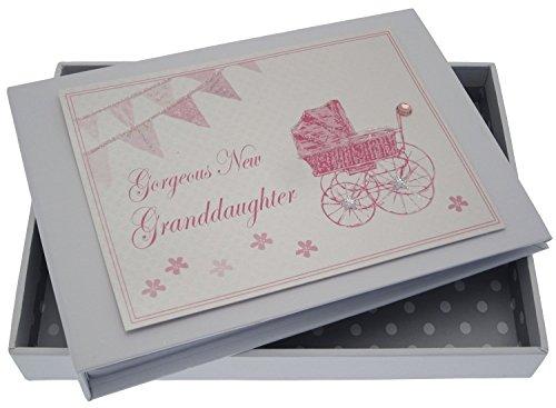 White Cotton Cards petite-fille Tiny Album (Rose Landau et fanions)