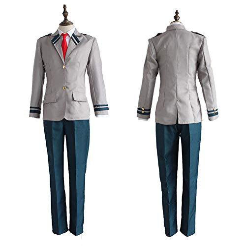 Goldlöckchen Zubehör Kostüm - DXYQT Anime Cosplay Kostüm Uniformen College Kleidung von My Hero College Halloween Kostüm World Book Day Kostüme für Jungen,Jacket Pants Tie-XL