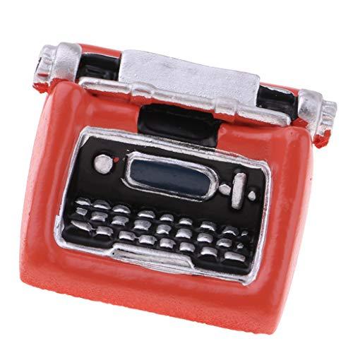 Fenteer 1/12 Miniature Machine à écrire Cadeau d'anniversaire pour Fille Garçon Orange