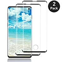 AUELEK Galaxy S10 Screen Protector,[2 Pack] 3D Full Coverage,9H Hardness,HD Clear,Fingerprint unlocking is normal,Bubble-Free Screen Protector for Samsung Galaxy S10