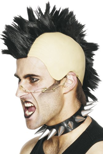 Men's Black Mohawk Wig for Punk Dress-Up