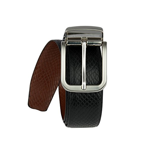 Life Pure Leather Belt - Black and Brown (Reversible) (Pack of 1) (LE-BE-37-44)