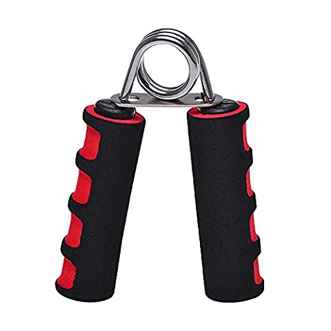 Kasstino Wrist Fitness Foam Hand Arm Exercise Grippers Grip Forearm Heavy Strength Grips (Red)
