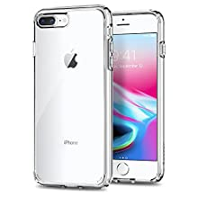 Spigen [Ultra Hybrid 2nd Generation] Designed for iPhone 7 Plus Case (2016), iPhone 8 Plus Case Cover (2017) - Crystal Clear