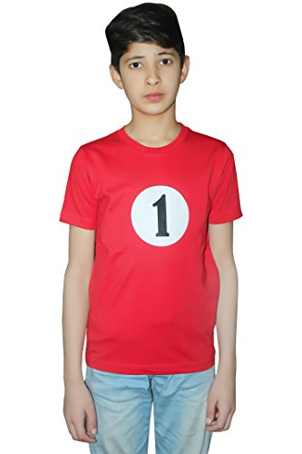 ids Boys Girls Thing Red Turquoise Theme 1 & 2 Book Week Costume- Pick & Mix (Number 1 T-Shirt - Red, Age 9-10 Years) (Druckbare Halloween-bücher)