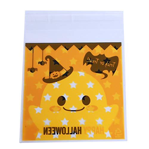 Winwinfly Halloween Süßigkeiten Süßigkeiten Brot Verpackung Taschen Selbstklebende Kunststoff Geschenktüten Für Kekse Snack Backen (Stil 1)