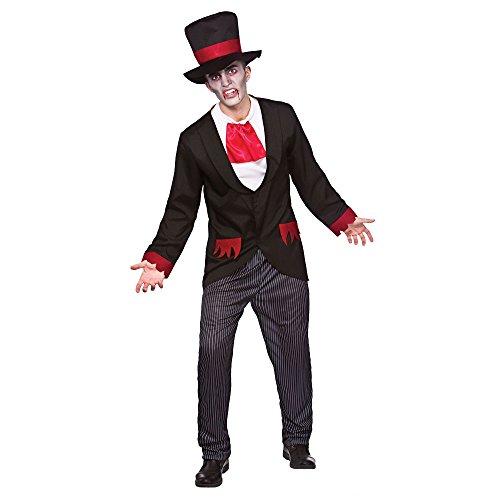 ire Costume Halloween Fancy Dress Large (Black Magic Man Kostüm)