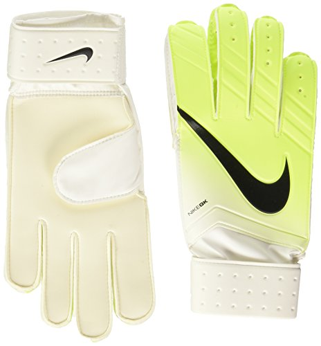 Nike Herren Match Goalkeeper Torwarthandschuhe, White/Volt/Black, 9