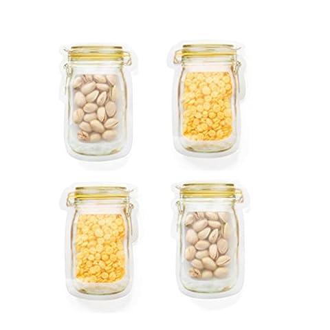 Igemy Fermeture Éclair Conservation réfrigérateur congélateur Nourriture Sac de rangement Fresh Gardant Wrap jaune