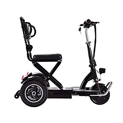 XCBY Folding Portable Lightweight?Electric Mobility Scooter 3 Wheeled ?250W Faster?Travel Pavement Fits in Most Car Boots