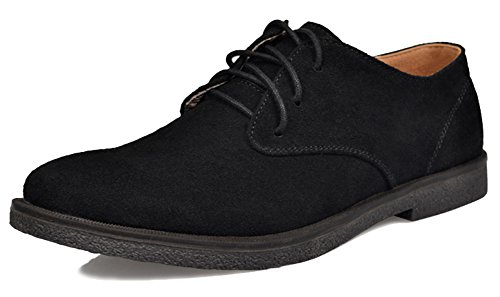 Fangsto Shoes, Jungen Herren Schnürhalbschuhe, Mehrfarbig - Schwarz - Größe: - Suit Skin Tuxedo