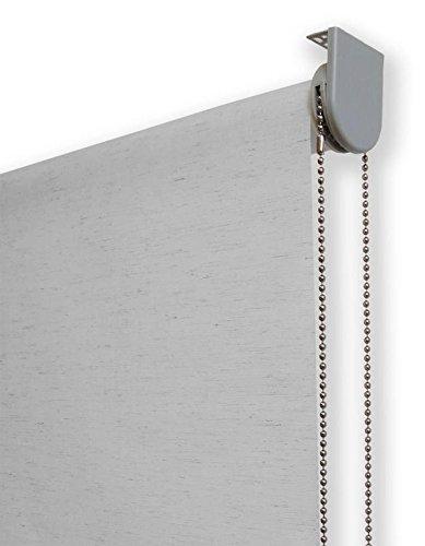 Estor enrollable lino PREMIUM METAL (desde 40 hasta 260cm de ancho) translúcido (permite paso de luz / no permite ver el exterior). Color lino gris. Medida 140cm x 240cm para ventanas y puertas.