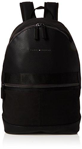 Tommy Hilfiger Herren Playful Novelty Backpack Rucksack, Schwarz (Black), 19x46x30 cm
