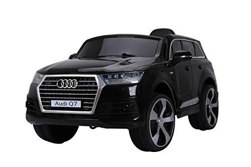 RC Auto kaufen Kinderauto Bild: AUDI Q7 SUV Kinder Auto Elektroauto Kinderauto Elektrofahrzeug Kinderfahrzeug mit LED-Beleuchtung, MP3-Anschluss und Fernbedienung 2.4 GHz, Antrieb: 2x 12V Motor, für drinnen und draußen, (Black)*