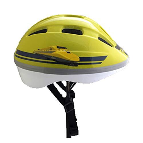 LHY SPORTS SERLES Kinder Skateboard Skates Zugmuster Helm,Kinder Fahrradhelm Roller Inline Sport-Schutzausrüstung Helm,Yellow
