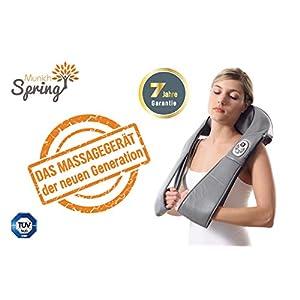 MunichSpring Shiatsu Massagegerät Nacken Schulter Rücken Optimus New Generation, Massagegerät mit Wärmefunktion