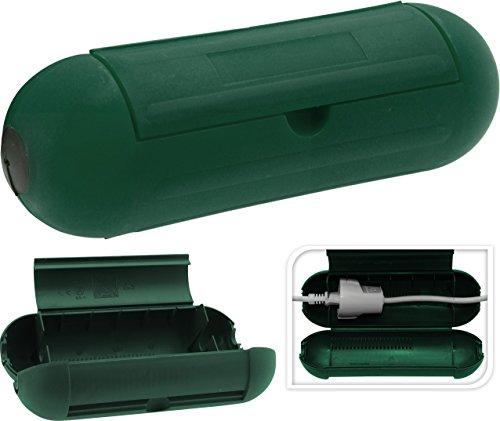 Sicherheitsbox aus Kunststoff in Grün, sicherer Schutz vor Strom, verschließbare Safe-Box für Verlängerungskabel und Kabelverbindungen, Schutzbox Schutzkapsel Sicherheitssteckdose Indoor Storage Box