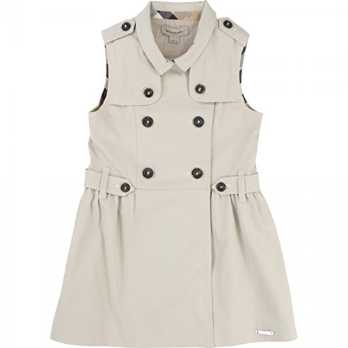BURBERRY - Robe sans manches trench - 8 anni, Beige