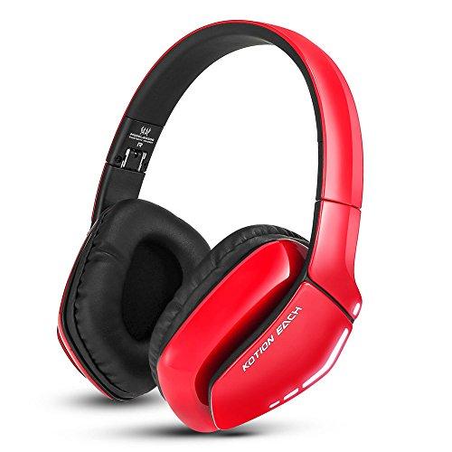 Cuffie bluetooth wireless headset pieghevole gaming headset v4.1con microfono per ps4pc mac smartphone computer rosso rot 19 * 19.5 * 7.5cm