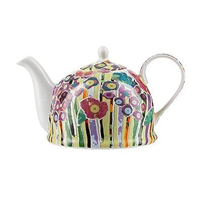 """Théière Igloo Jameson & Tailor/Théière de""""Collage de fleurs"""" / Cafetière en porcelaine brillante de 1200 ml/Convient aux lave-vaisselle et micro-ondes"""
