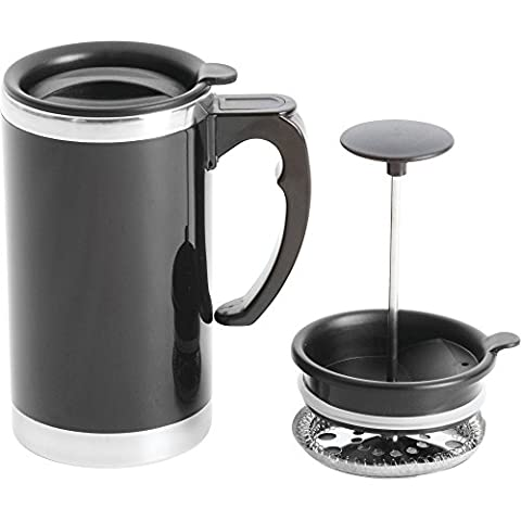 Wyndham House 620ml Stainless Steel Lined, Double-Wall Travel French Press