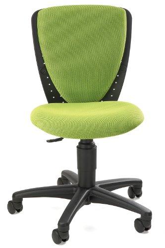 Topstar 70570BB50 High S\'cool, Kinder- und Jugenddrehstuhl, Schreibtischstuhl für Kinder, Bezugsstoff grün