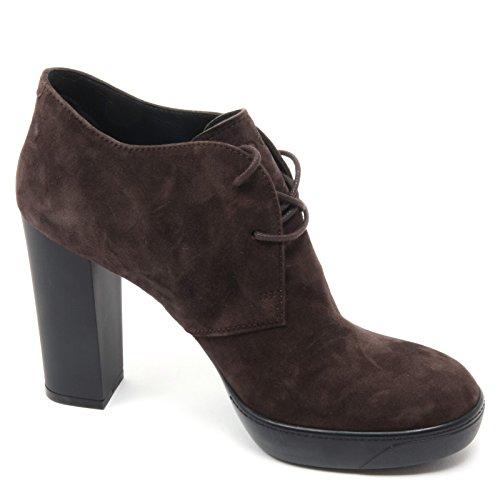 B5878 tronchetto donna HOGAN OPTY 273 POLACCO scarpa marrone shoe woman Marrone scuro