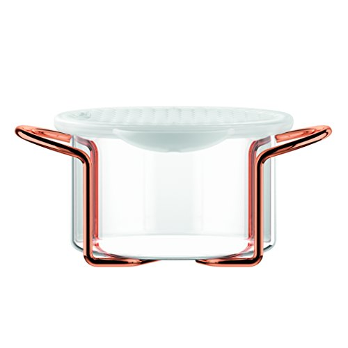 Bodum,set Hot Pot Set, teglia da forno con coperchio in silicone, Silicone, trasparente, 0,25 L