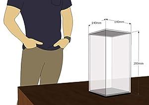 Técnicas Láser- Urna De Metacrilato, Color Transparente/Base Espejo, 28x14x14cm (U.4.28X14X14/E